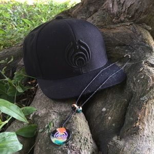 Black Bassnectar SnapBack and Necklace